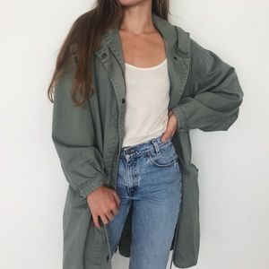 [Eddie Bauer] long utility trench coat